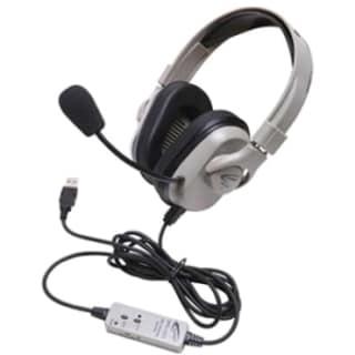 Califone Washable Headphone W/ USB, In-line Volume Via Ergoguys