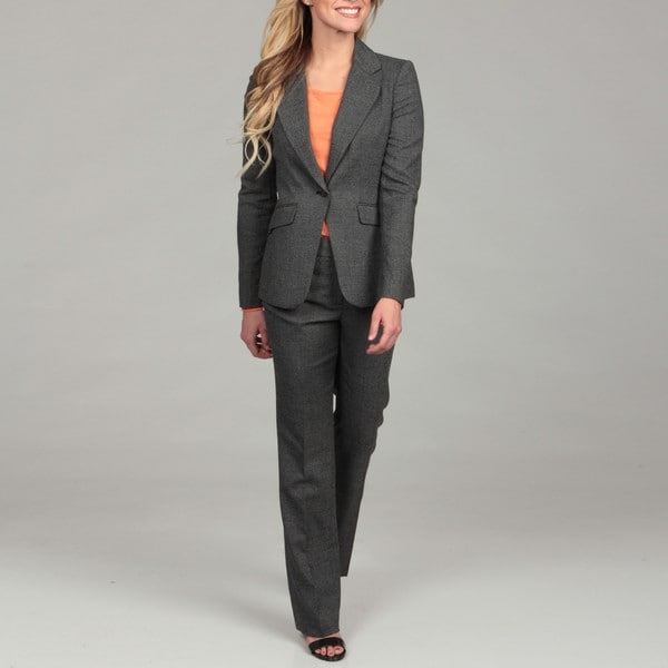 Calvin Klen Women's Black Multi Pant Suit