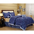 Ruskins Blue Flower 7-piece Comforter Set
