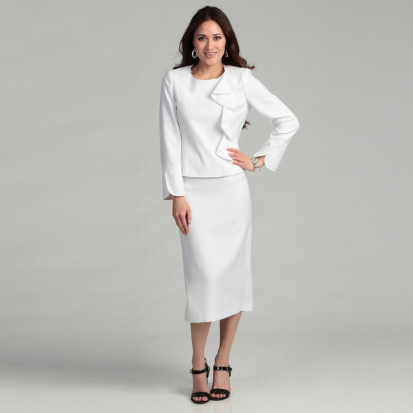 WHITE Crepe 2 Piece Skirt Suit. $ Lily & Taylor (Fall & Holiday ) LT BLACK RED NAVY PURPLE ROYAL WHITE Crepe 3 Piece Skirt Suit. $ Lily & Taylor (Fall & Holiday ) LT PURPLE CHARCOAL GOLD KIWI MELON SILVER WHITE WINE Silky Twill w/Rhinestones 3 Piece Skirt Suit. $