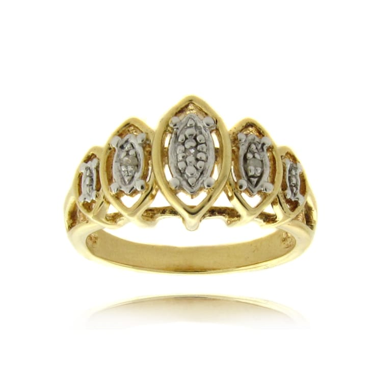 Finesque 14k Gold over Sterling Silver Diamond Accent Marquise Shape Ring
