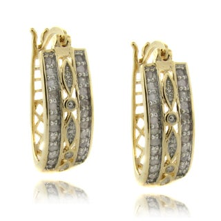 Finesque 14k Gold over Silver 1/2ct TDW Diamond Earrings (I-J, I2-I3)