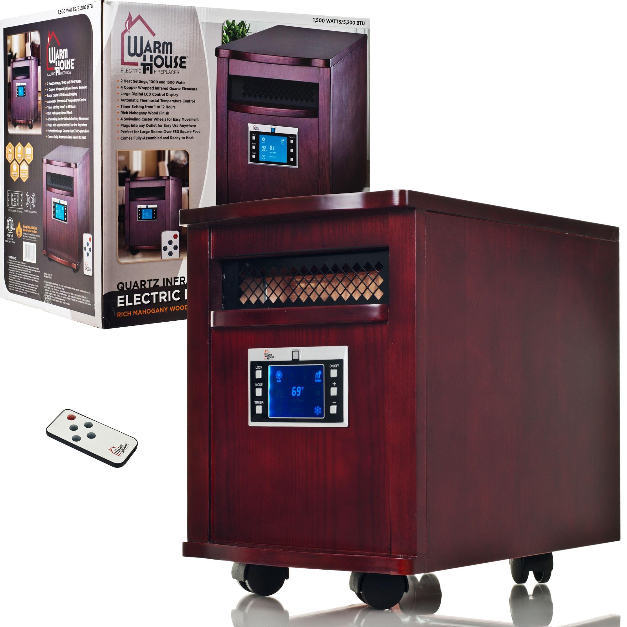 Warm House Mahogany Portable Infrared Heater