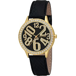 Vernier Women's Gold Sparkle Fun Numeral Watch