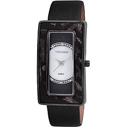 Vernier Woman's Rectangle Animal Resin Bezel Watch