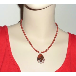 Every Morning Design Sterling Silver Red Jasper Necklace