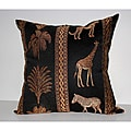 RLF Home Tropical Stripe Decorative Pillow