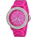 Vernier Women's 'V11043' Hot Pink Sparkle Chronograph Watch