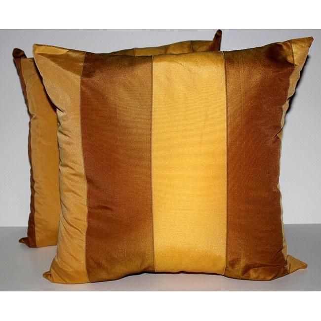 RLF Home Pascal Stripe Topaz Decorative Pillows (Set of 2)