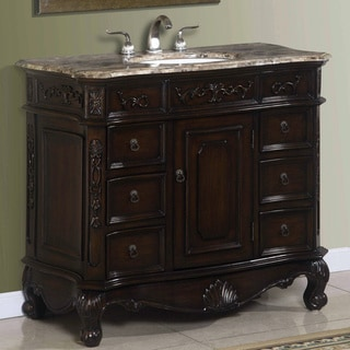 Madison Brown Cherry and Porcelain Bathroom Vanity