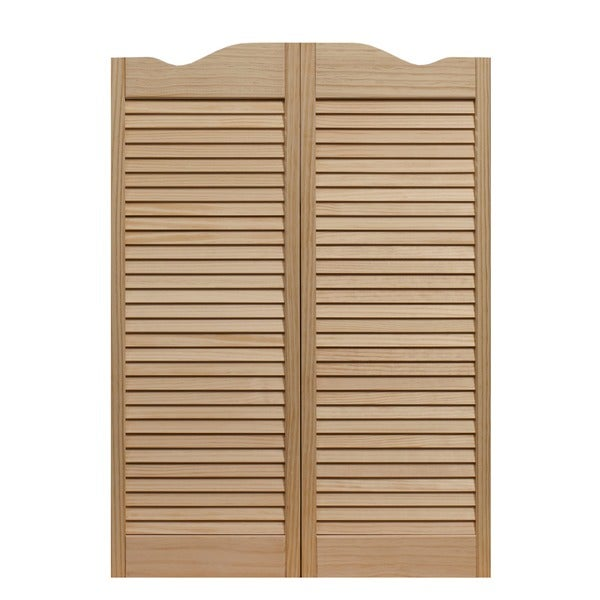 Dixieland Louvered Unfinished Cafe Doors