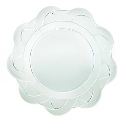 ChargeIt! by Jay 13-inch Glass Mirror Charger Plate