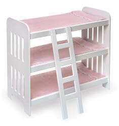Badger Basket Triple Doll Bunk Bed Set