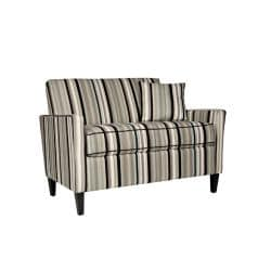 Angelo Home Sutton Mid Century Black Stripe Loveseat