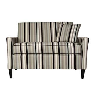 angelo:HOME Sutton Mid Century Black Stripe Loveseat