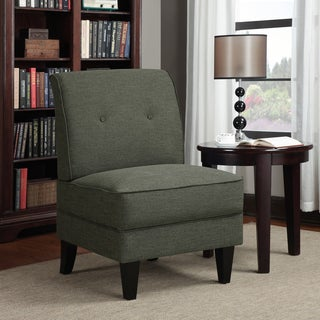 Portfolio Engle Charcoal Gray Linen Armless Chair