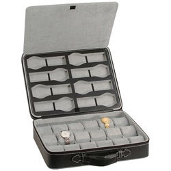 Caddy Bay Collection Executive 26-Watch Travel Briefcase