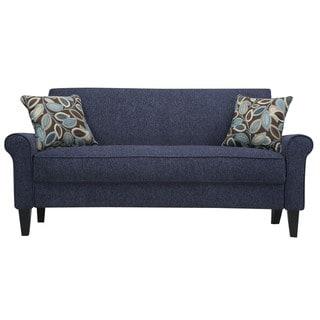 Portfolio Harper Federal Blue Chenille Sofa