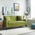 Portfolio Ellie Apple Green Linen Sofa