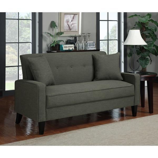 Portfolio Ellie Basil Grey Linen Sofa