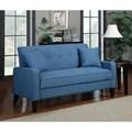 Portfolio Ellie Caribbean Blue Linen Sofa