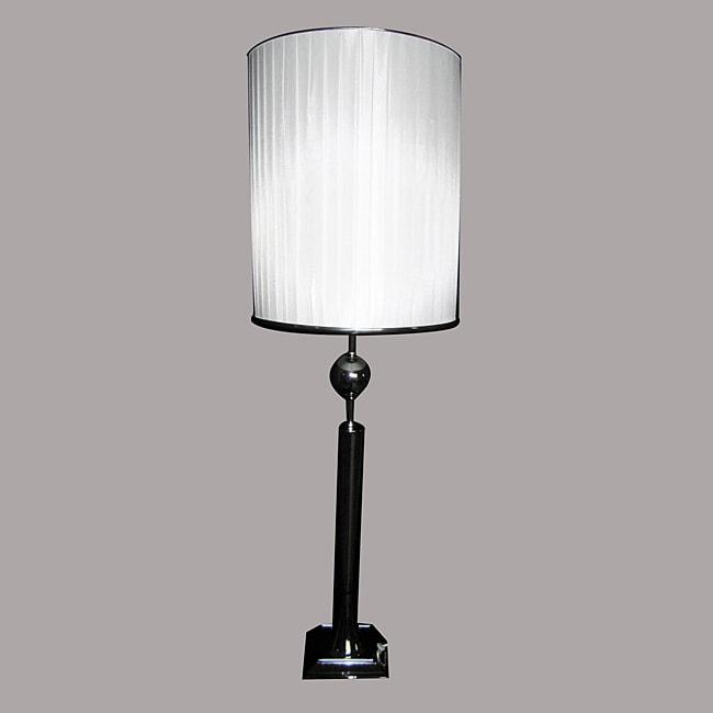 Leo 1-light Chrome Metal Table Lamp