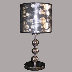Noutica 1-light Chrome Metal Table Lamp