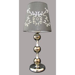 Matha 1-light Chrome Metal Table Lamp