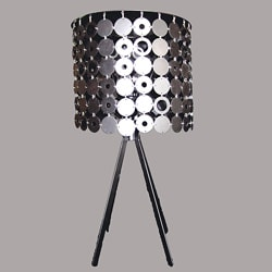 Reno Modern Chrome Metal Table Lamp