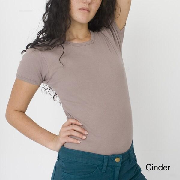 American Apparel Women's Organic Baby Rib Basic Short Sleeve T-Shirt