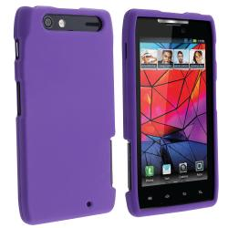 Purple Snap-on Rubber Coated Case for Motorola Droid RAZR XT910/ XT912