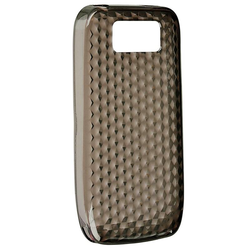 Clear Smoke Diamond TPU Rubber Skin Case for Nokia E63