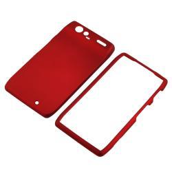 Red Rubber Coated Case for Motorola Droid RAZR XT910/ XT912