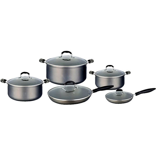 Concord 10-piece Heavy Duty Hard Anodized Nonstick Cookware Set