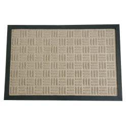 Rubber-Cal Wellington Rubber Tan Carpet Floor Mat (4' x 6')