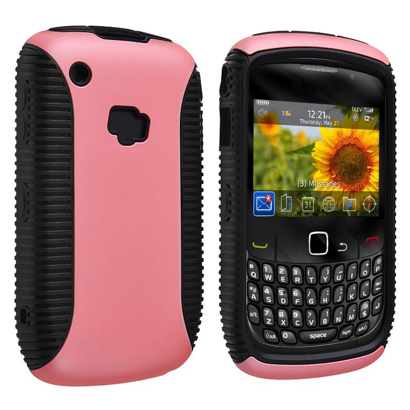 Black TPU/ Pink Hard Hybrid Case for BlackBerry Curve 8520/ 8530/ 9300