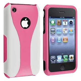 Pink/ White Cup Shape Snap-on Case for Apple iPhone 3G/ 3GS
