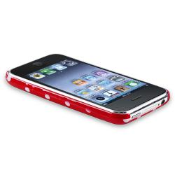 Red with White Dot Snap-on Case for Apple iPhone 3G/ 3GS
