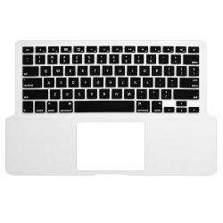 INSTEN Clear/ Black Soft Silicone Keyboard Skin Shield for Apple MacBook Pro