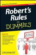 Robert's Rules for Dummies (Paperback)