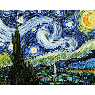 Vincent Van Gogh, 'Starry Night' Hand-painted Trivet/Wall Accent Tile