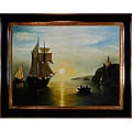William Bradford, 'A Sunset Calm in the Bay of Fundy' Hand-painted Canvas Art