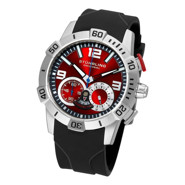 Stuhrling Original Men's Gen-Y Sport Quartz Chronograph Red Dial Watch
