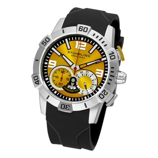 Stuhrling Original Men's Gen-Y Sport Quartz Chronograph Yellow Dial Watch
