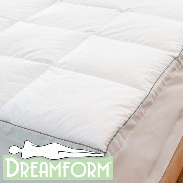 Dream Form Sateen King-size Memory Foam Mattress Topper Cover