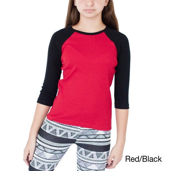 American Apparel Girl's Raglan Top