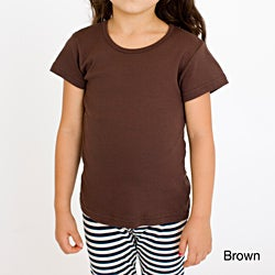 American Apparel Kid's Cap-sleeve Baby Rib Cotton Tee
