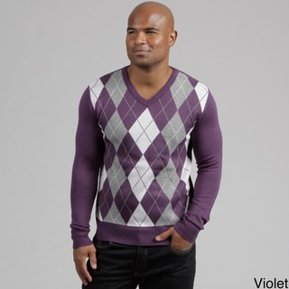 South Pole Men's V-neck Argyle Sweater FINAL SALE