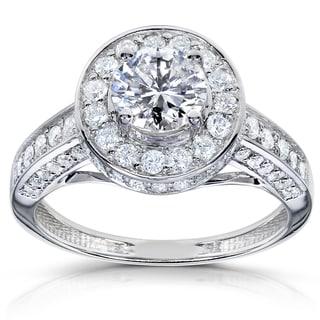 Annello 14k White Gold 1 1/3ct TDW Diamond Engagement Ring (H-I, I1-I2)