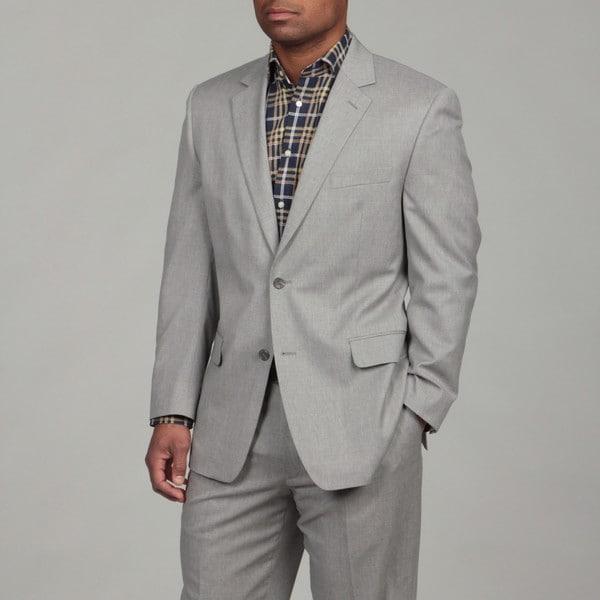 MICHAEL Michael Kors Men's 2-button Light Grey Wool Suit